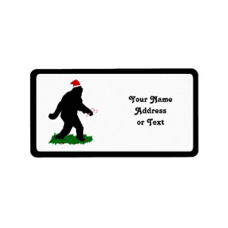 Christmas Squatchin' Personalized Address Labels