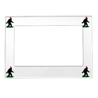Christmas Squatchin Frame Magnets