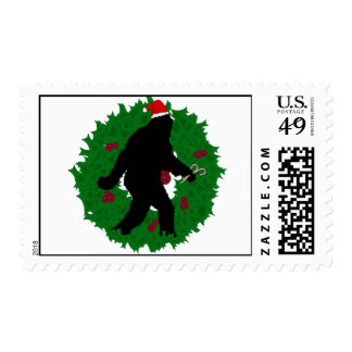 Christmas Squatchin' Postage Stamps
