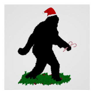 Christmas Squatchin' Poster
