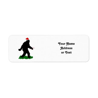 Christmas Squatchin' Return Address Label