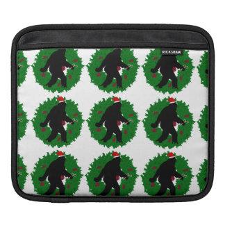 Christmas Squatchin' with Wreath iPad Sleeves