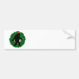 Christmas Squatchin' Wreath Bumper Stickers