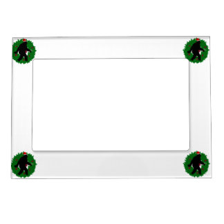 Christmas Squatchin Wreath Frame Magnet