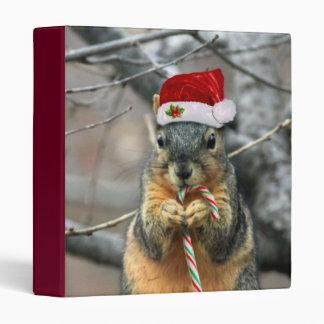 Christmas Squirrel 3 Ring Binder