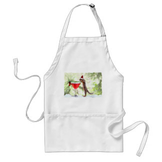 Christmas Squirrel at Happy Hour Adult Apron