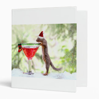 Christmas Squirrel at Happy Hour Vinyl Binder