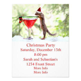 Christmas Squirrel at Happy Hour Announcements