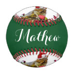 Christmas Squirrel Baseball