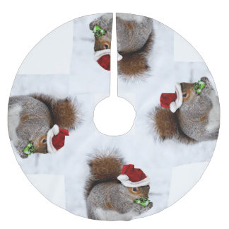 Christmas Squirrel Brushed Polyester Tree Skirt