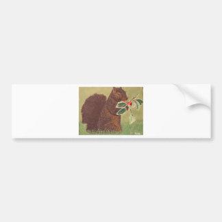 Christmas Squirrel Bumper Sticker