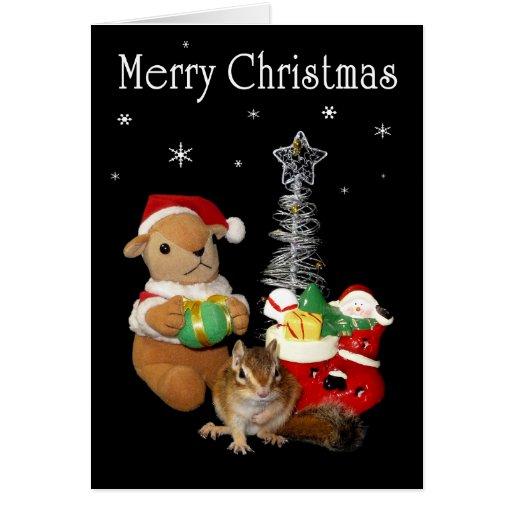 Christmas . squirrel , Chipmunk Card