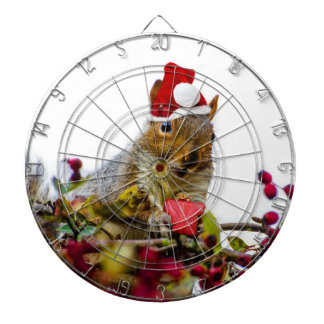 Christmas Squirrel Dartboard With Darts