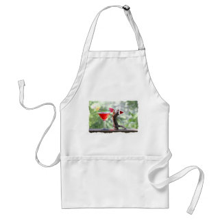 Christmas Squirrel Drinking a Cocktail Adult Apron