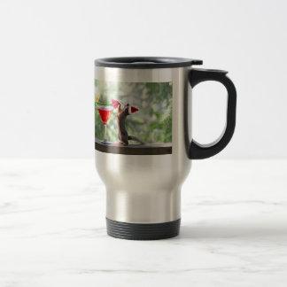 Christmas Squirrel Drinking a Cocktail Travel Mug