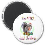 Christmas Squirrel Fridge Magnet