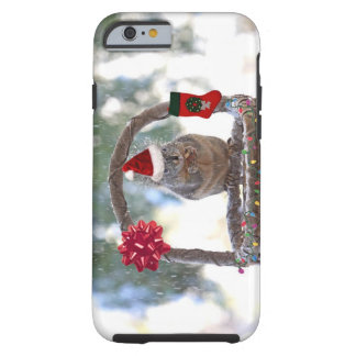 Christmas Squirrel in a Snowy Basket iPhone 6 Case
