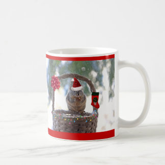 Christmas Squirrel in Snowy Basket Coffee Mug