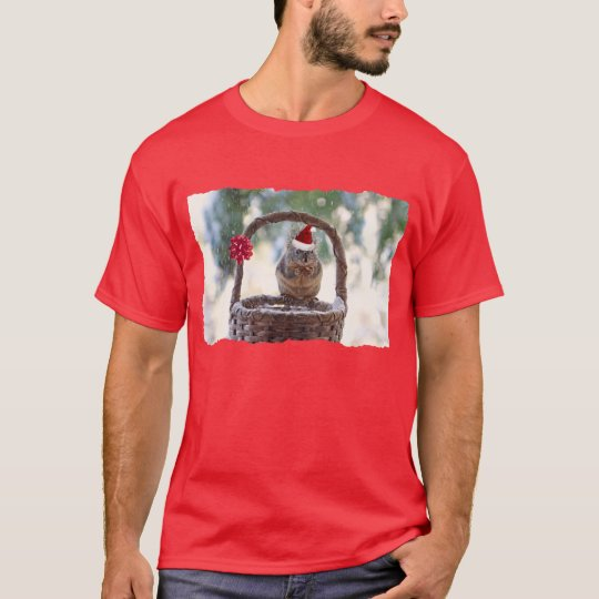 Christmas Squirrel in the Snow T-Shirt