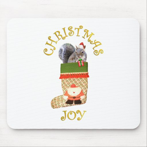 Christmas Squirrel Mouse Mats