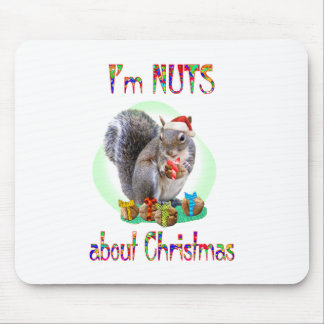 Christmas Squirrel Mouse Pad