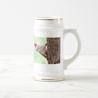Christmas Squirrel on a Tree Beer Stein