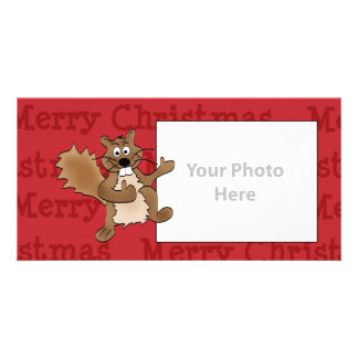 Christmas Squirrel Photo Card