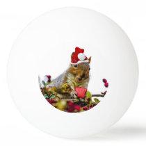 Christmas Squirrel Ping-Pong Ball