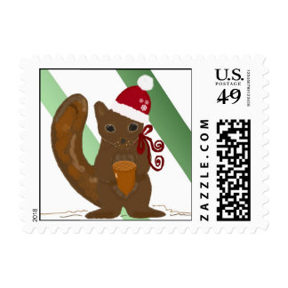 Christmas Squirrel Postage