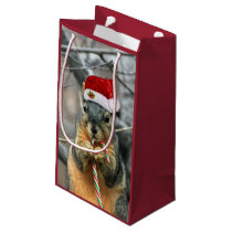 Christmas Squirrel Small Gift Bag
