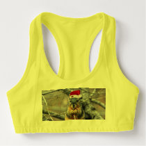 Christmas Squirrel Sports Bra