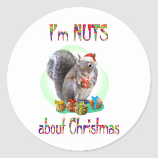 Christmas Squirrel Sticker