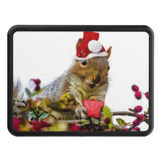 Christmas Squirrel Trailer Hitch Cover