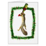 Christmas Squirrel with Beer Greeting Card