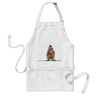 Christmas Squirrel with Candy Cane Adult Apron