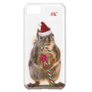 Christmas Squirrel with Candy Cane iPhone 5C Case