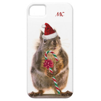 Christmas Squirrel with Candy Cane iPhone SE/5/5s Case