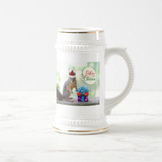 Christmas Squirrel with Christmas Presents Beer Stein