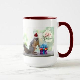 Christmas Squirrel with Christmas Presents Mug