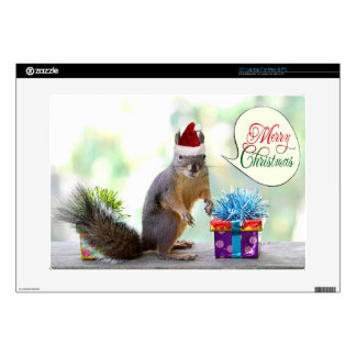 Christmas Squirrel with Christmas Presents Laptop Decals