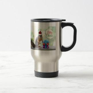 Christmas Squirrel with Christmas Presents Travel Mug