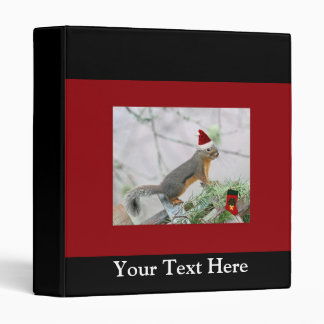 Christmas Squirrel with Christmas Stocking Vinyl Binders