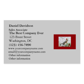 Christmas Squirrel with Christmas Stocking Business Cards