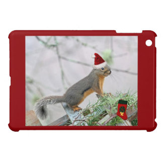 Christmas Squirrel with Christmas Stocking Cover For The iPad Mini