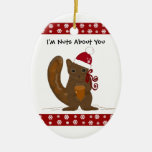 Christmas Squirrel with Cute Saying Ornament