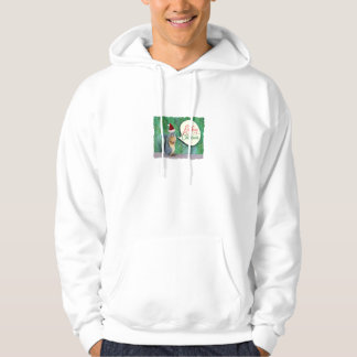 Christmas Squirrel with Evergreen Tree Background Hoodie