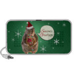 Christmas Squirrel with Snowflakes Travelling Speaker
