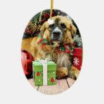Christmas - St Bernard - Amber Ornament