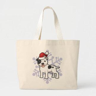 Christmas Staffordshire Bull Terrier Jumbo Tote Bag