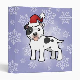 Christmas Staffordshire Bull Terrier Binder